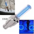 Подсветка для велосипеда цвет синий