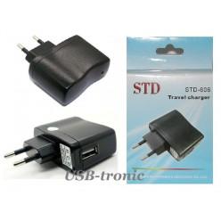 Адаптер сетевой USB для зарядки 5V / 220V.