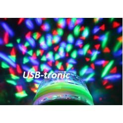 Цветомузыкальная LED лампа светодиодная