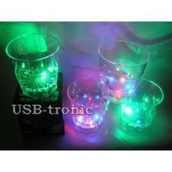 Набор высоких светящихся стаканов 4 шт.