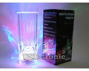 Праздничный светящийся led бокал с подсветкой