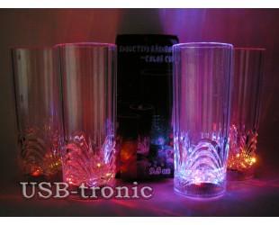 """Светящиеся стаканы для напитков """"VIVA"""" 4 шт с разноцветной подсветкой"""