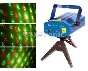 Мини лазерный проектор на Новый год 6 рисунков