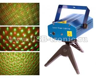 Лазерный проектор Mini laser stage lighting AB 19