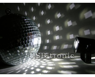 Зеркальный диско шар для дискотеки 20 см.