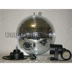 Зеркальный шар с мотором для кафе 30 см.