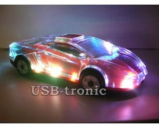 Портативная колонка машинка USB магнитола с цветной подсветкой