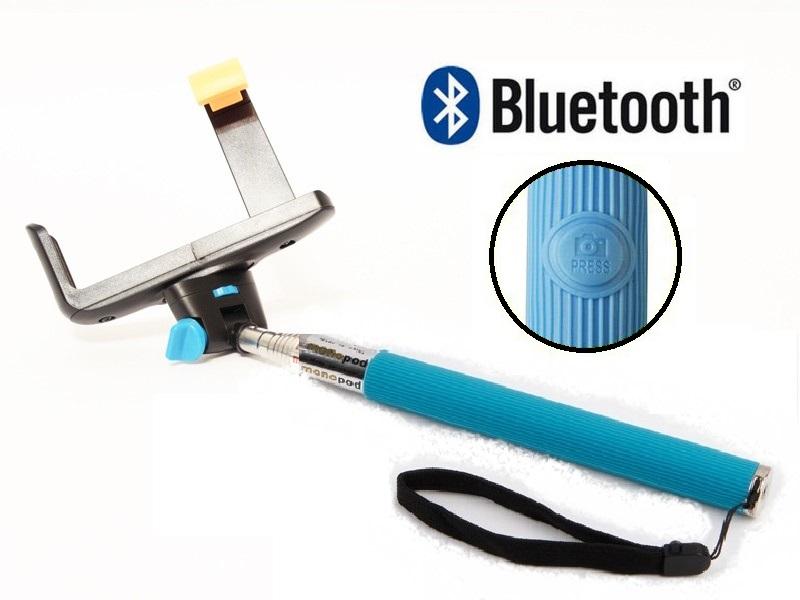 Штатив для селфи с bluetooth голубой
