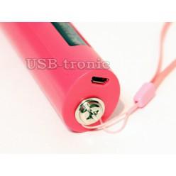 Палка для селфи с Bluetooth и Zoom - розовая
