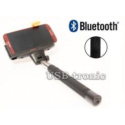 Монопод  для селфи с Bluetooth - черный