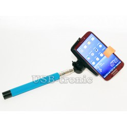 Монопод  для селфи с Bluetooth - синий
