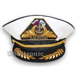 Капитанская фуражка с золотым  шитьём. №1