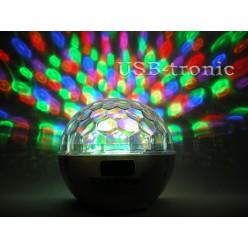 """Диско-шар  """"Сфера"""" с аккумулятором и MP3 (6 цветов) W Нет в наличии"""