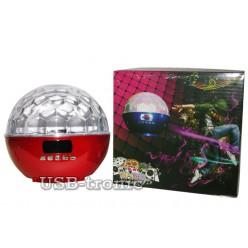 """Цветомузыкальный  """"Сфера"""" с аккумулятором, радио и MP3 5 цветов Нет на складе"""