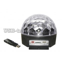 """Цветомузыка """"Сфера"""" с MP3 плеером и USB 3цв."""
