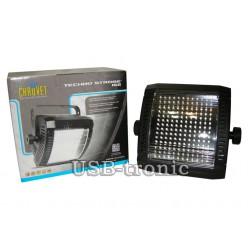 Белый стробоскоп для дискотеки MiniFLASH программируемый 144 LED