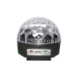 """Диско шар светомузыка """"Сфера"""" с  USB и ПДУ 3 цвета 6 светодиодов"""