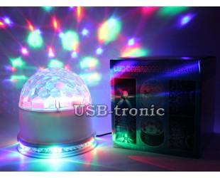 """Диско шар """"Сфера"""" со светодиодным кольцом для домашней дискотеки"""