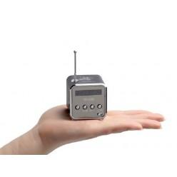 Мини FM приемник TD-V26 с радио и MP3 плеером (Серебро)