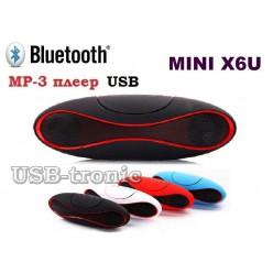 Мини колонка MINI X6U c USB и TF Черные 15 см.