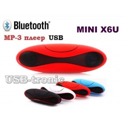 Мини колонка MINI X6U c USB и TF Красная 15 см.