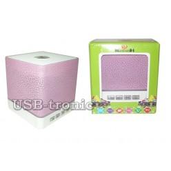 Портативная  Вluetooth колонка KH-106 с MP3 и FM - Розовая