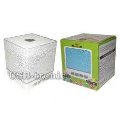 Портативная  Вluetooth колонка KH-106 с MP3 и ФМ Белая