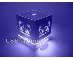 Портативная Вluetooth колонка со светодиодной LED подсветкой Hello Kitty KH-105