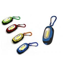 Мини фонарик брелок для ключей Синий корпус