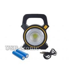Переносной светодиодный фонарь Cob Work Lights с USB и Micro USB 4 режима