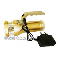Ручной аккумуляторный фонарь прожектор MX-1817-T6 Мощный светодиод Cree T6  3 x 18560 Металлический корпус