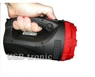 Мощный ручной аккумуляторный фонарь прожектор YJ-2827