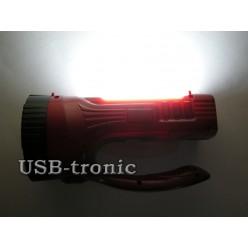 Ручной светодиодный мини фонарь YJ-2833 аккумуляторный с зарядкой