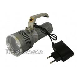 Ручной аккумуляторный фонарь прожектор MX-1820-T6 Мощный светодиод Cree T6  3 x 18560 Металлический корпус