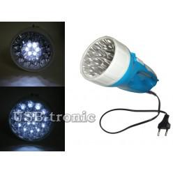 Ручной аккумуляторный фонарь YT-708 на 18 светодиодах