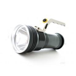 Ручной светодиодный аккумуляторный фонарь 2 батарейки 18650 Металл