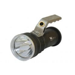 Ручной аккумуляторный светодиодный фонарь 3 батарейки Металлический корпус