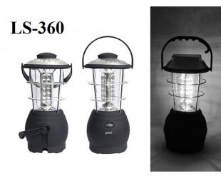Кемпинговый светодиодный фонарь с динамо Super Bright Led Lantern LS-360 36 led на солнечной батарее