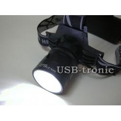 Фонарь налобный светодиодный MX-2185 ZOOM Cree T6 COB с 2 аккумуляторами 18650