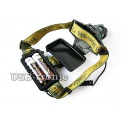 Фонарь налобный аккумуляторный MX-K13-T6 Cree XML T6