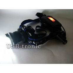 Фонарь налобный светодиодный MX-T08-T6 с зумом 2 аккумулятора 18650