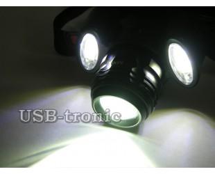Налобный фонарик Boruit MX-A6 Cree XML-T6 с 2 аккумуляторными батарейками 18650