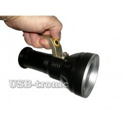 Светодиодный фонарь с ручкой P-8805-T6 2 аккумулятора 18650 Металл