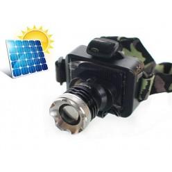 Фонарь налобный BL-T857 аккумуляторный с зарядкой от солнечной батареи
