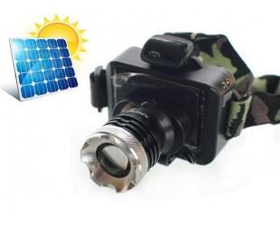 Светодиодный налобный фонарь BL-T857 аккумуляторный с зарядкой от солнечной батареи