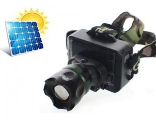 Светодиодный налобный фонарь BL-T856 аккумуляторный на солнечной батарее