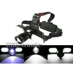 Налобный фонарь светодиодный MX-626-T6 Три фары