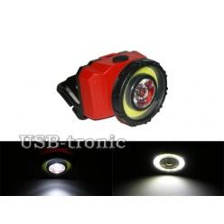 Фонарь налобный светодиодный NF-T838 COB 3W+1W LED AAA