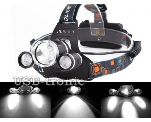 Мощный светодиодный налобный фонарь Boruit MX-A7 Cree XML-T6