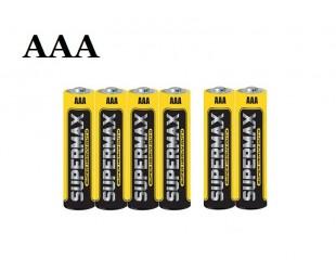 Батарейки Supermax AAA комплект для вело фонарей 6 штук